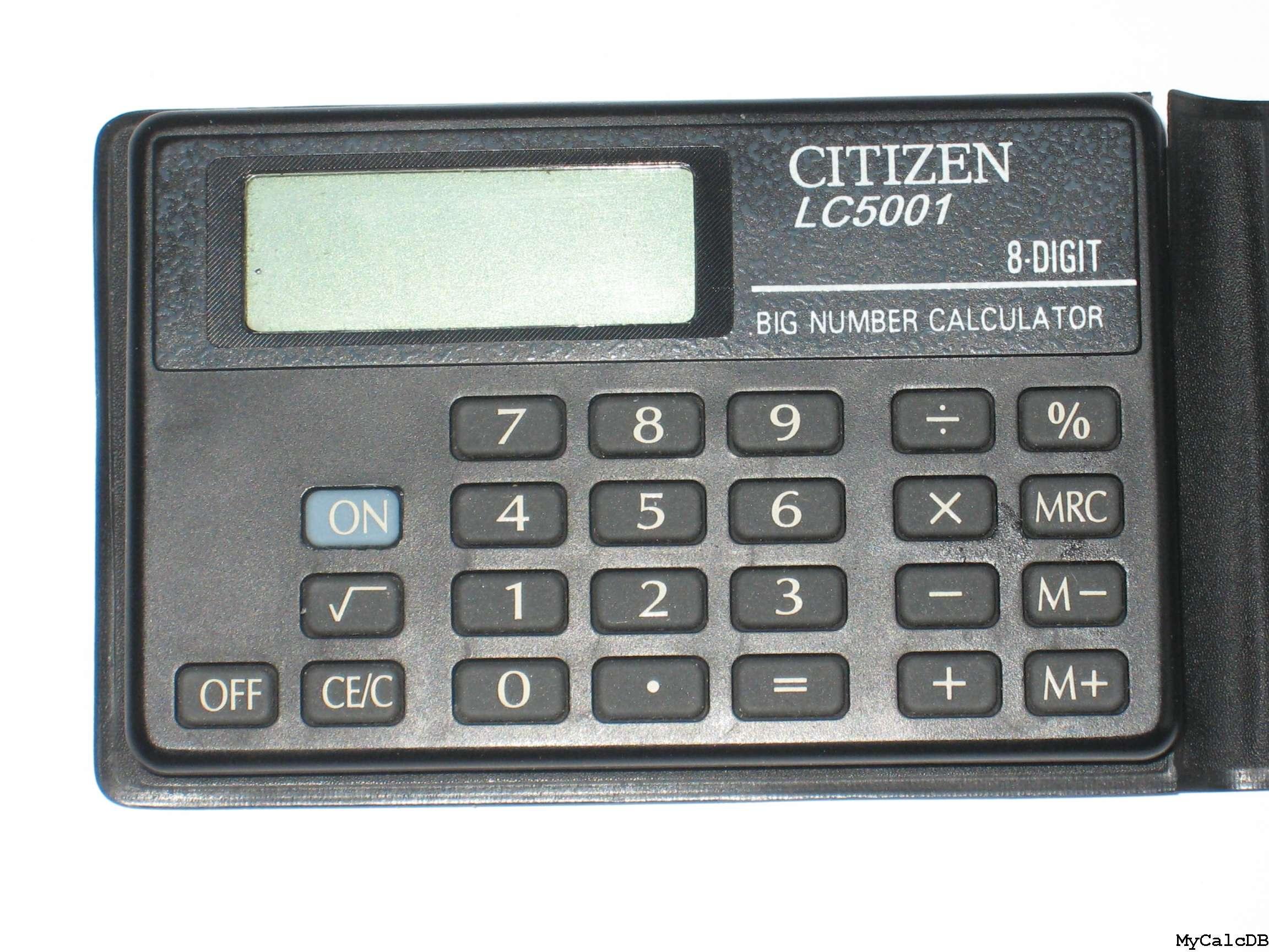 Mycalcdb Calculator Citizen Lc5001 Aka Lc 5001