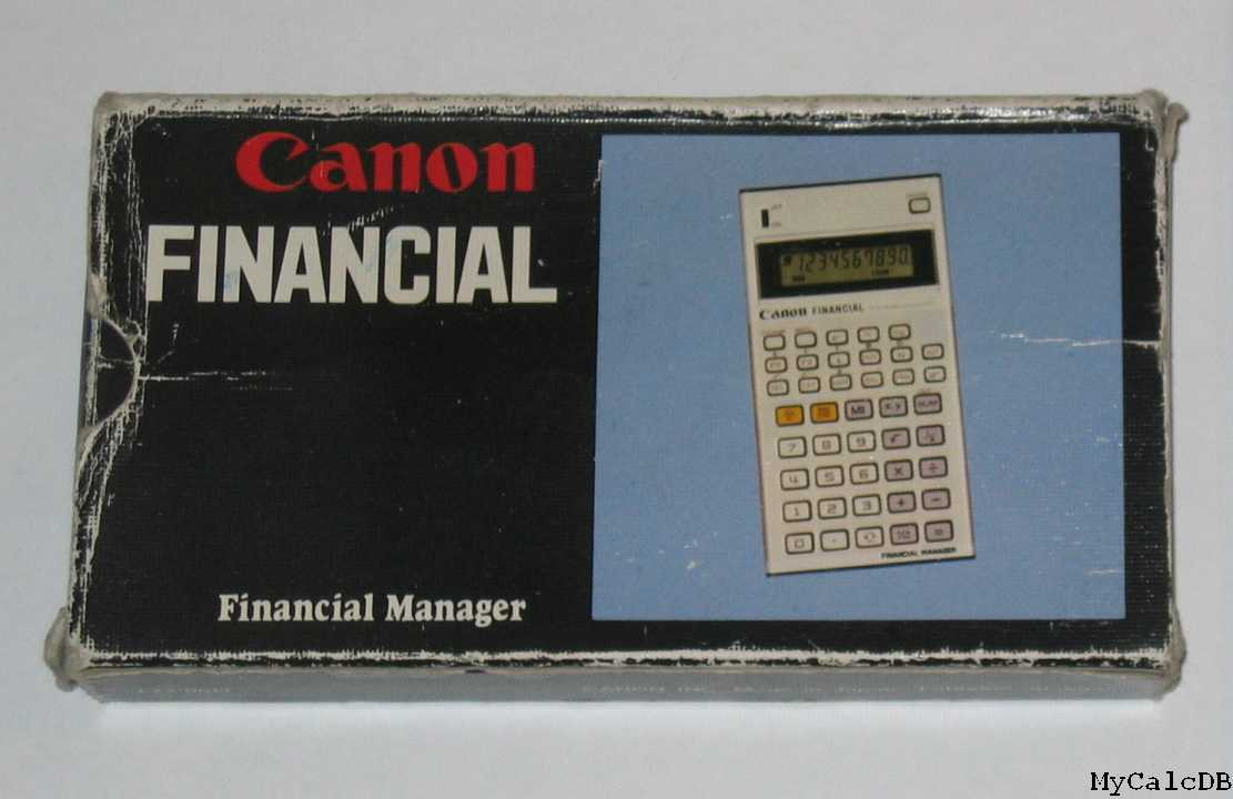 Canon FINANCIAL
