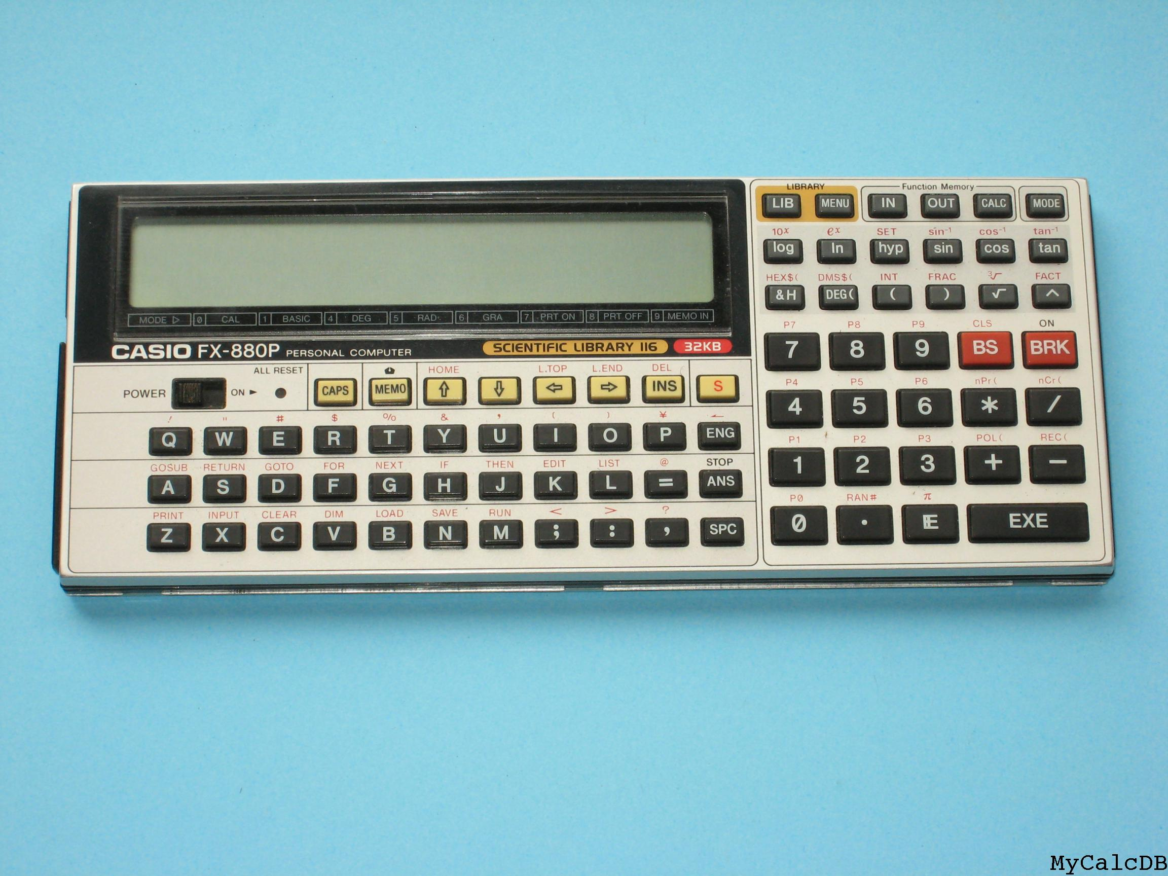 Casio FX-880P aka Scientific Library 116