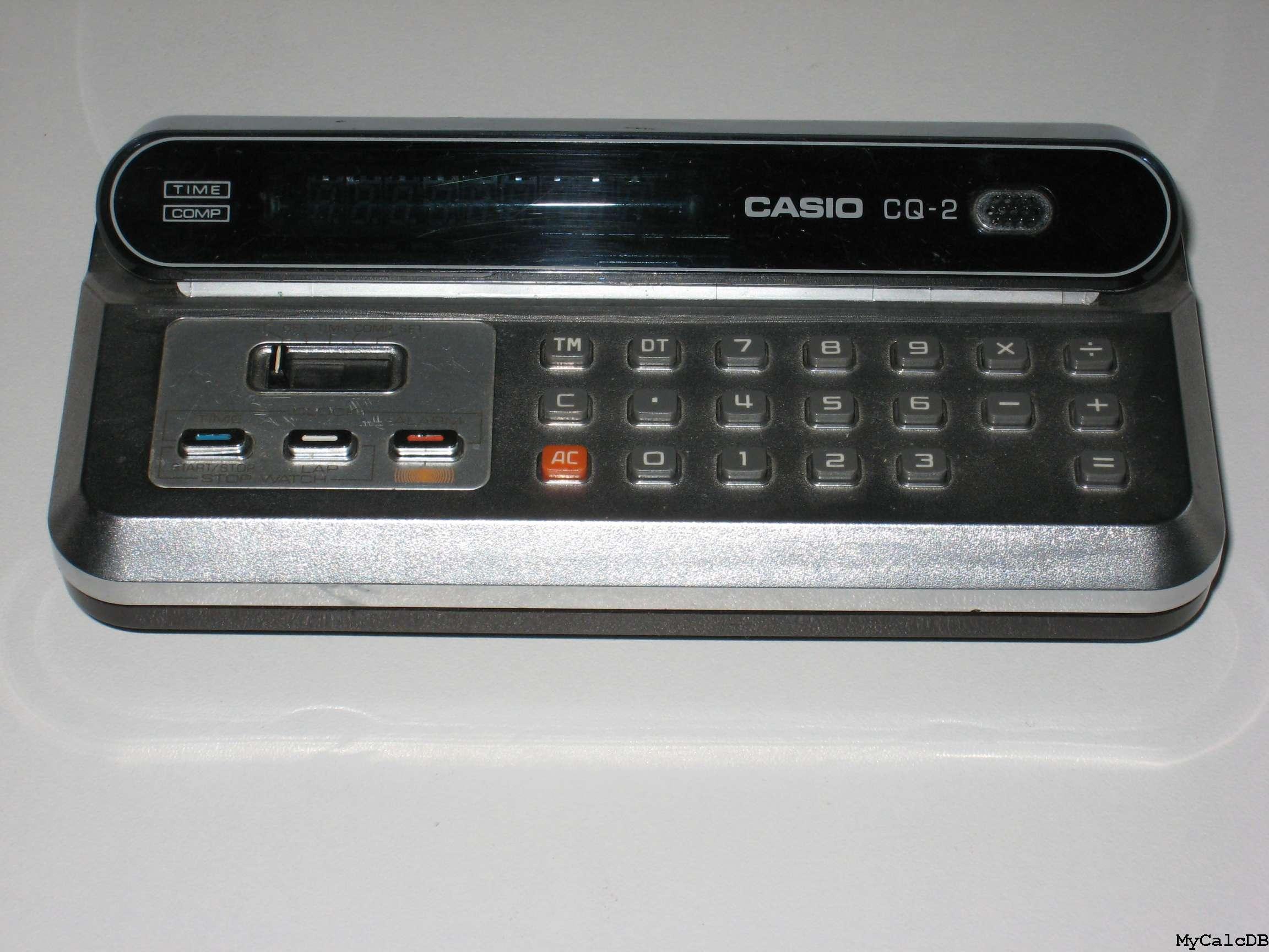 Mycalcdb Calculator Casio Cq 2 Aka Computer Quartz Kalkulator Portable Printer Hr 8 Tm