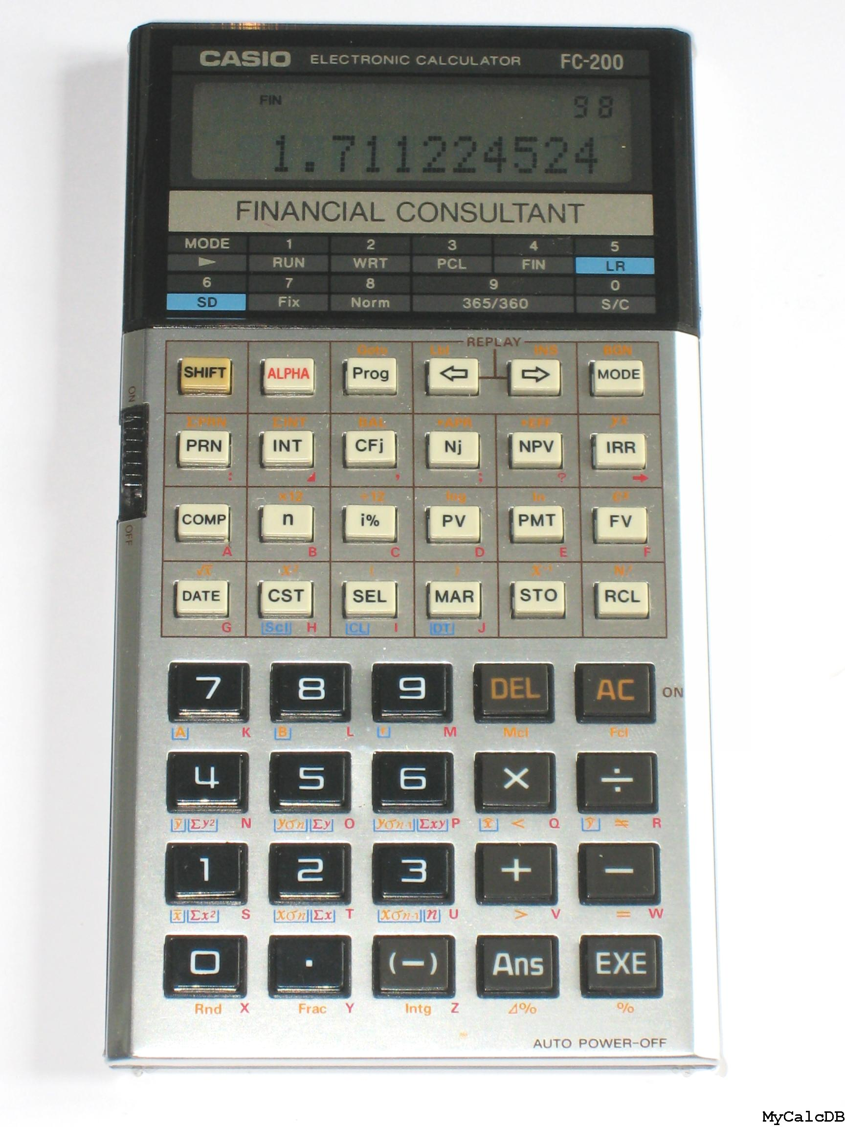 How to use calculator casio fc 200v part 1 youtube.