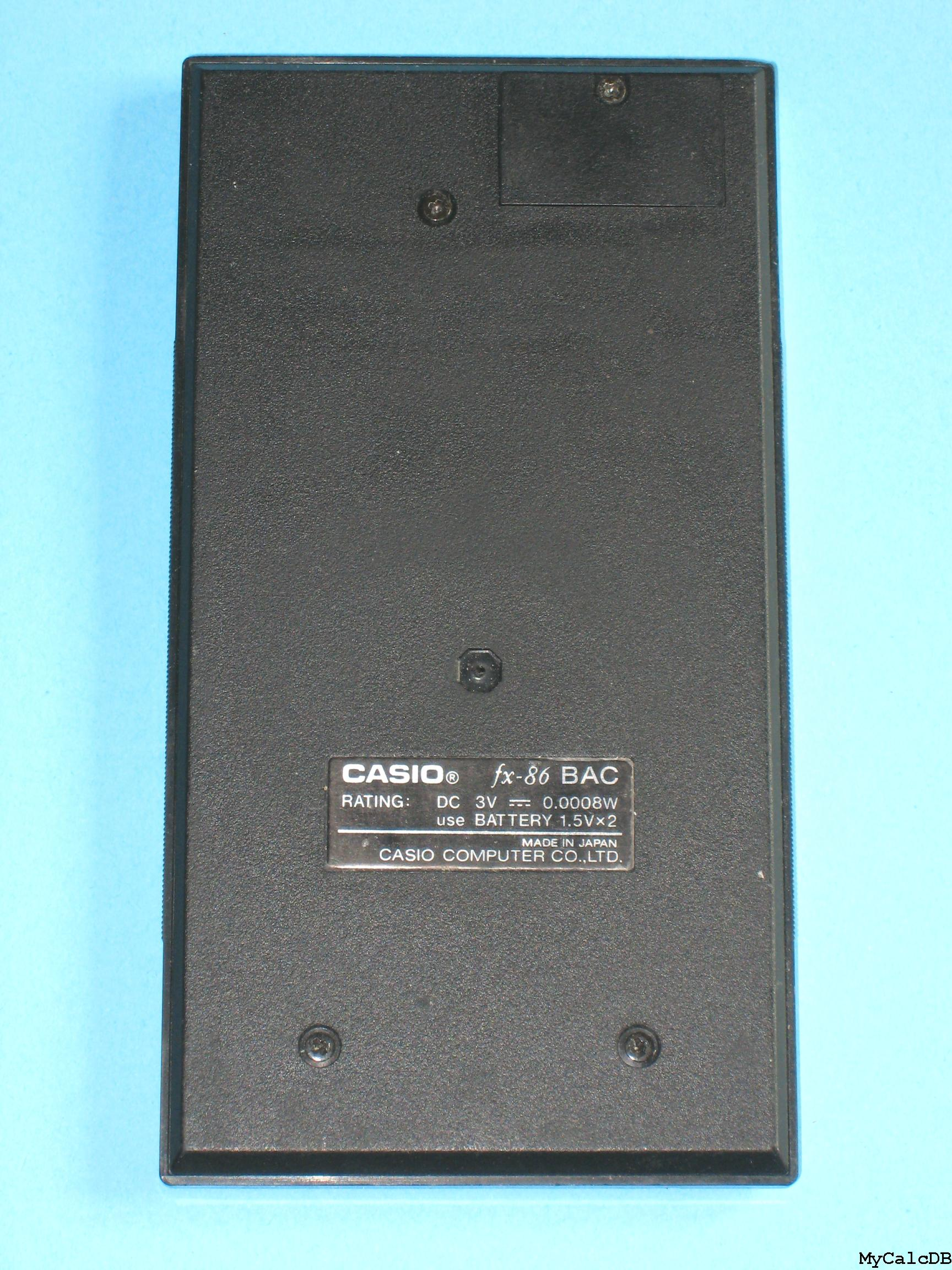 Casio fx-86 BAC