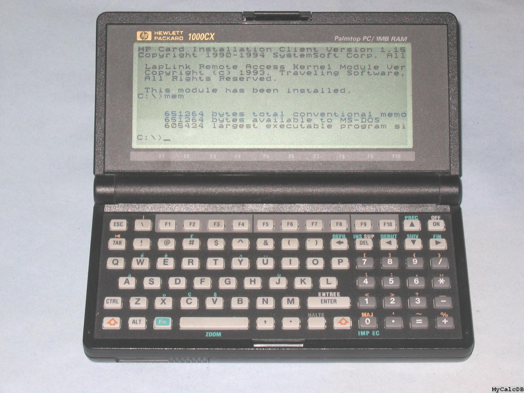 Hewlett-Packard 1000CX 2MB