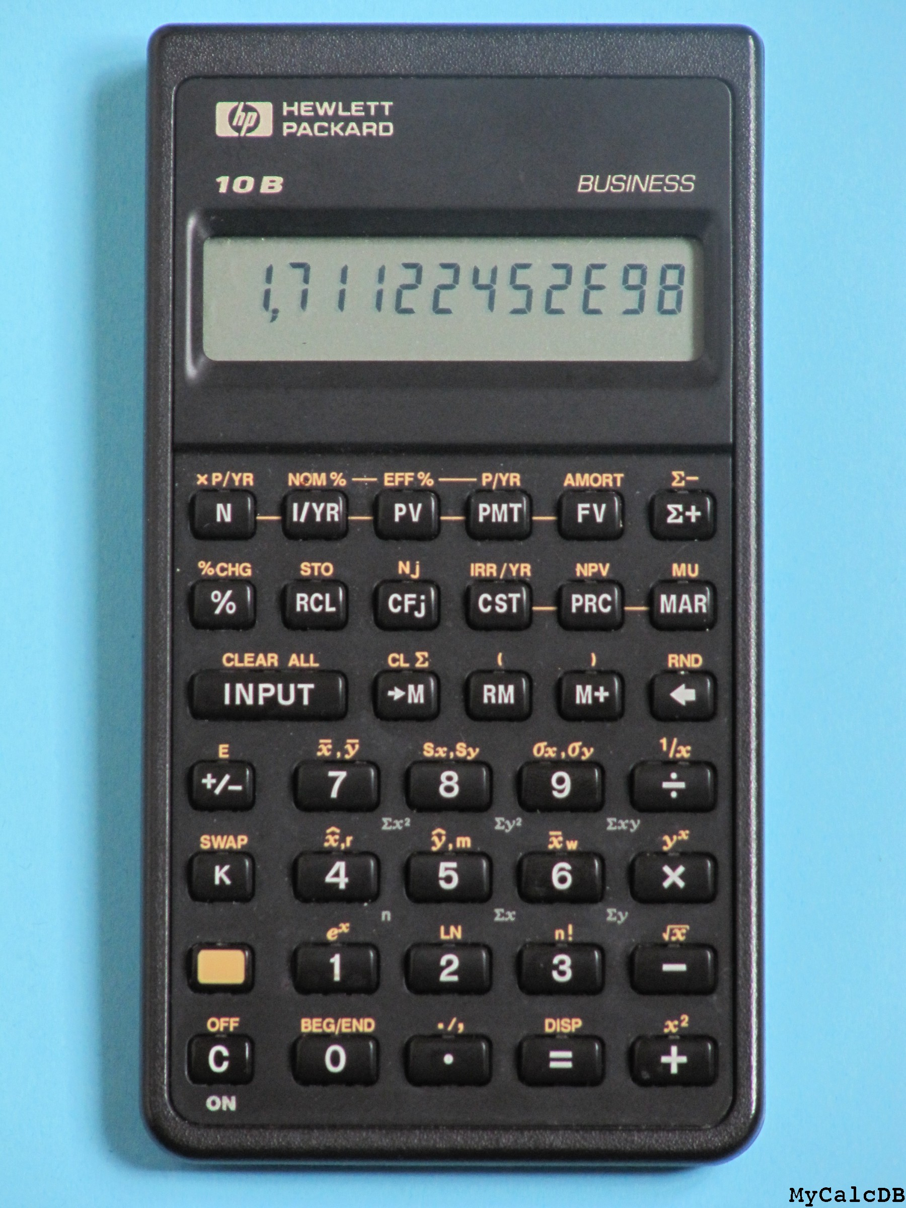mycalcdb calculator hewlett packard 10b aka pioneer ernst rh mycalcdb free fr hp 10b 2 user manual HP Pavilion HPE Manual