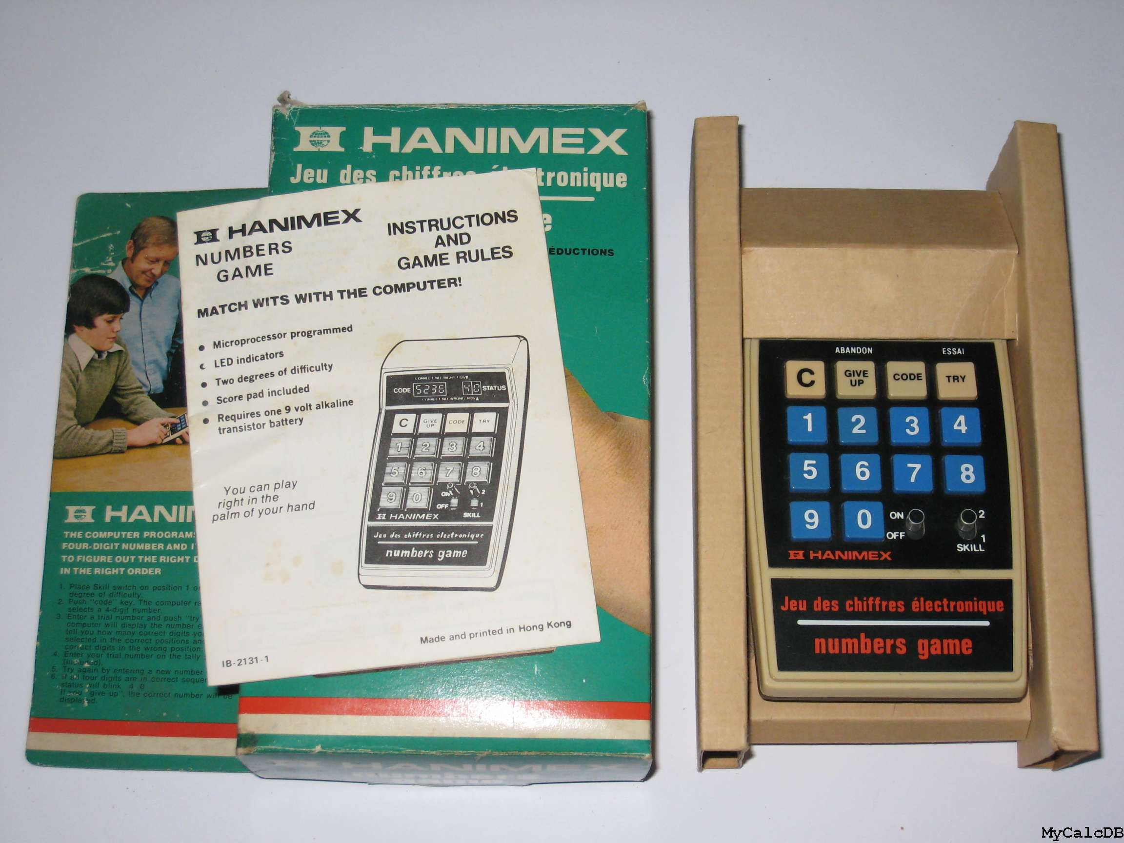 Hanimex numbers game