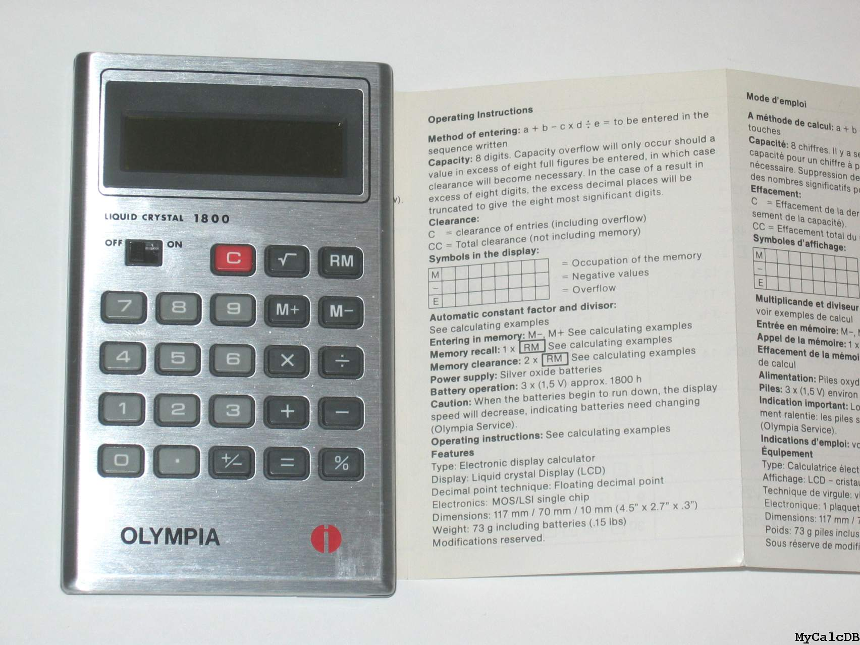 Olympia LCD 1800