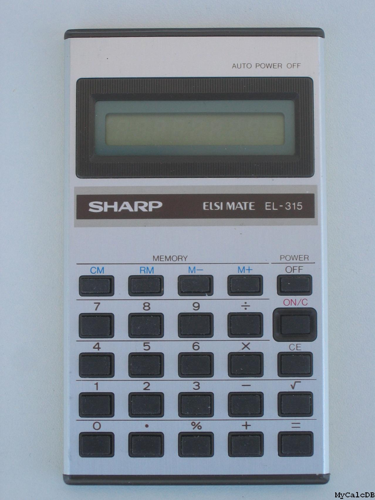 Sharp EL-315
