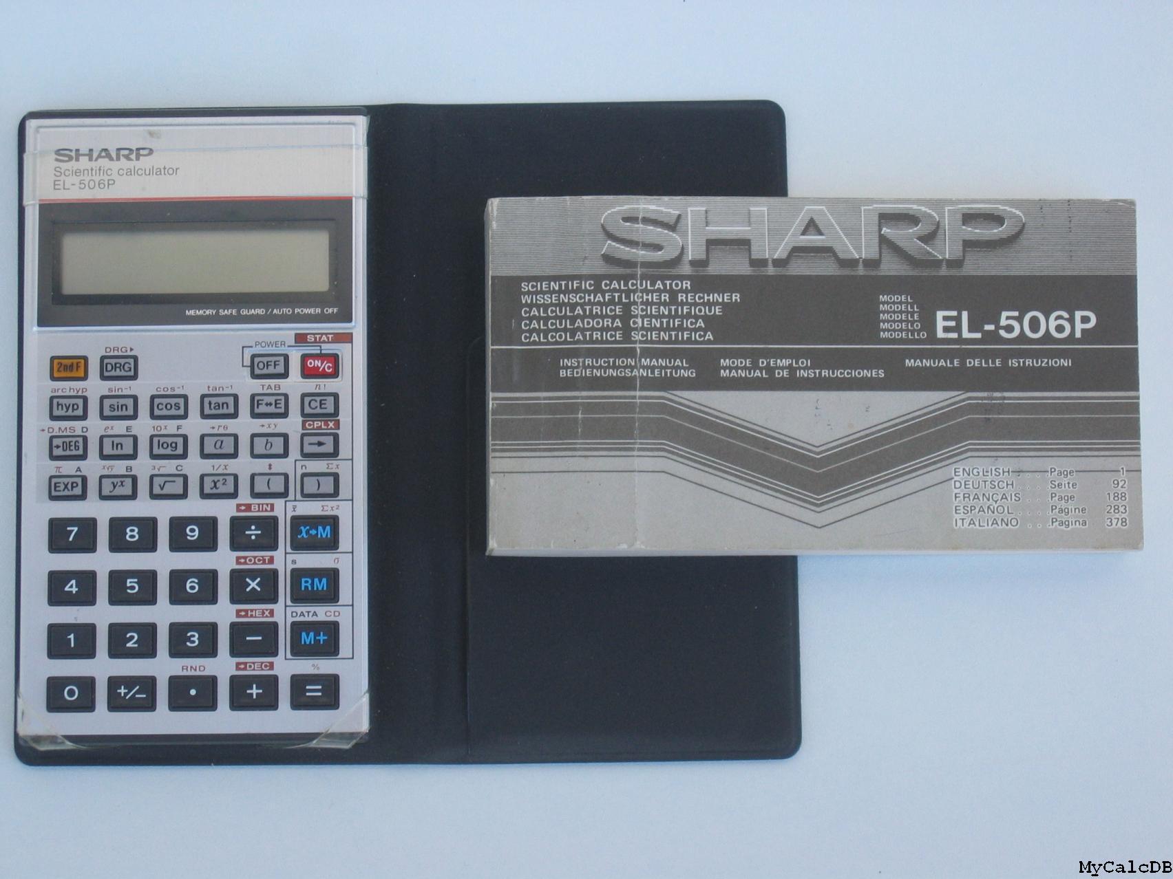 калькулятор sharp el-506p инструкция