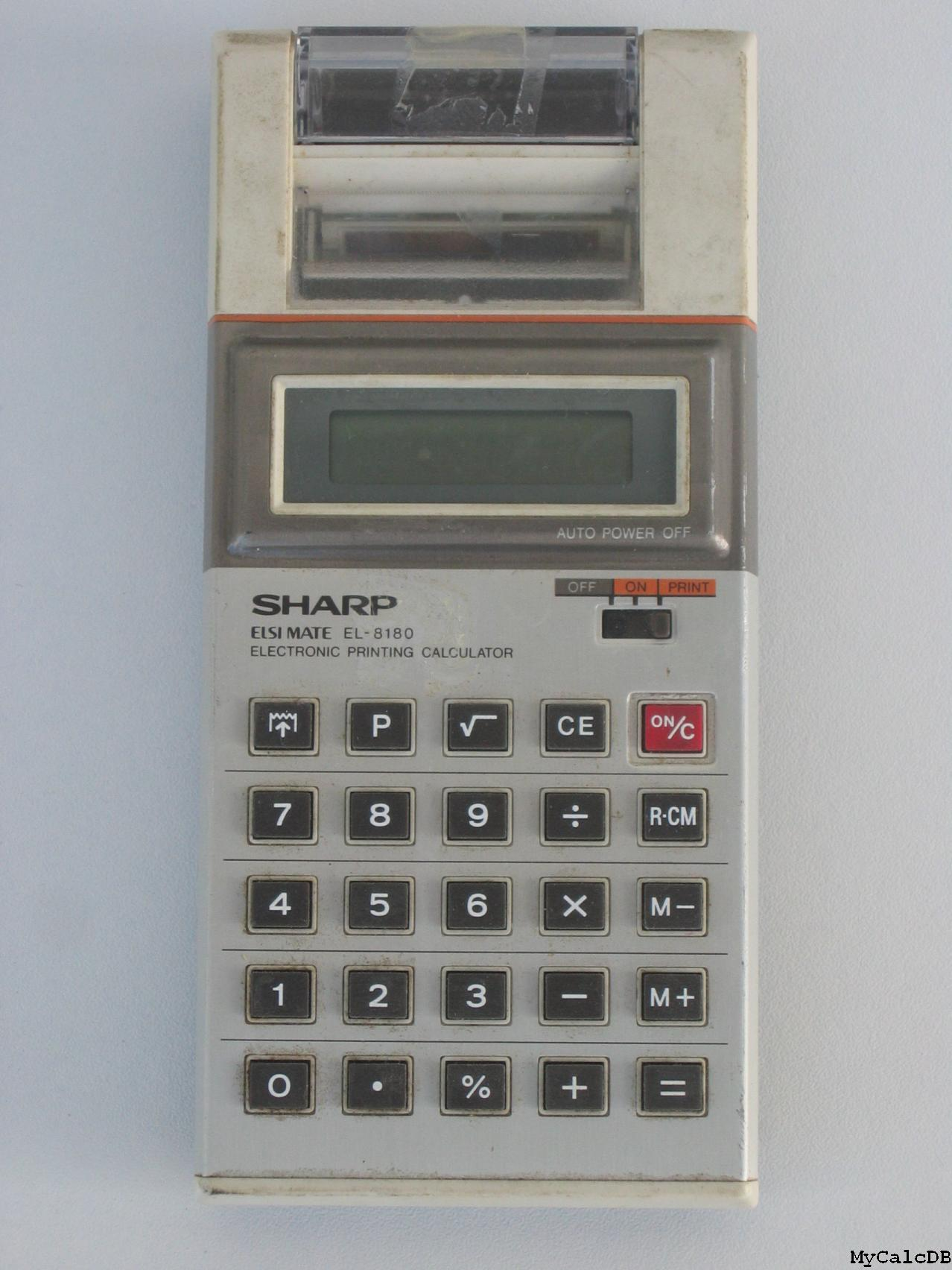 Sharp EL-8180