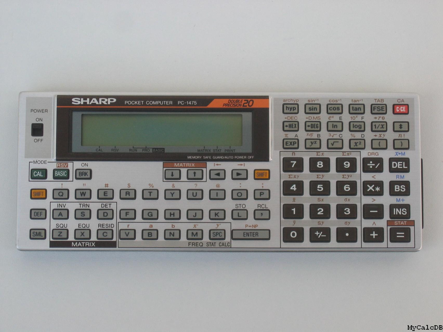 Sharp PC-1475