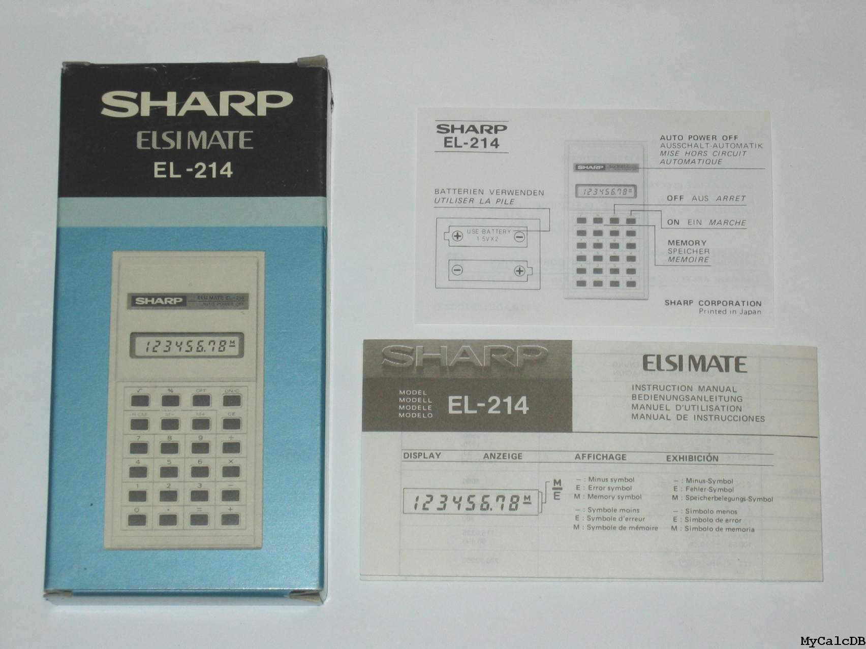 Sharp EL-214