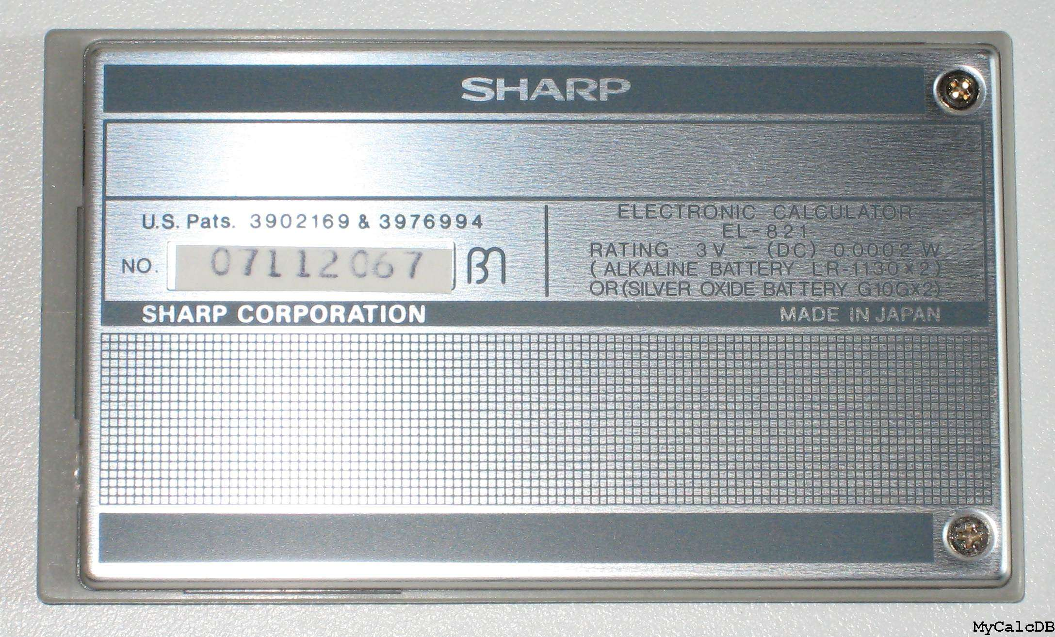 Sharp EL-821