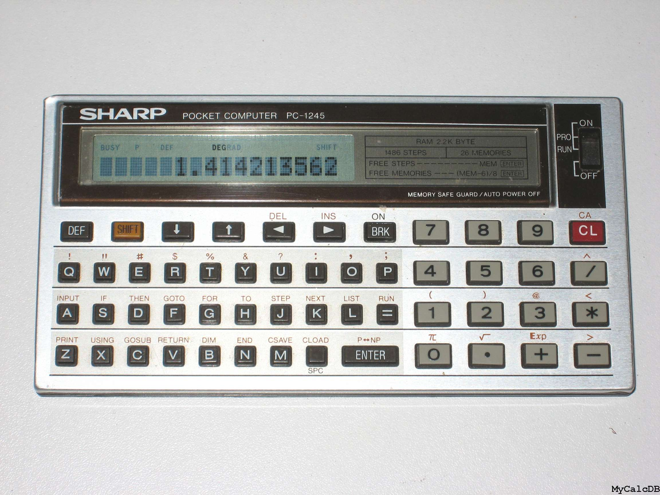 Sharp PC-1245