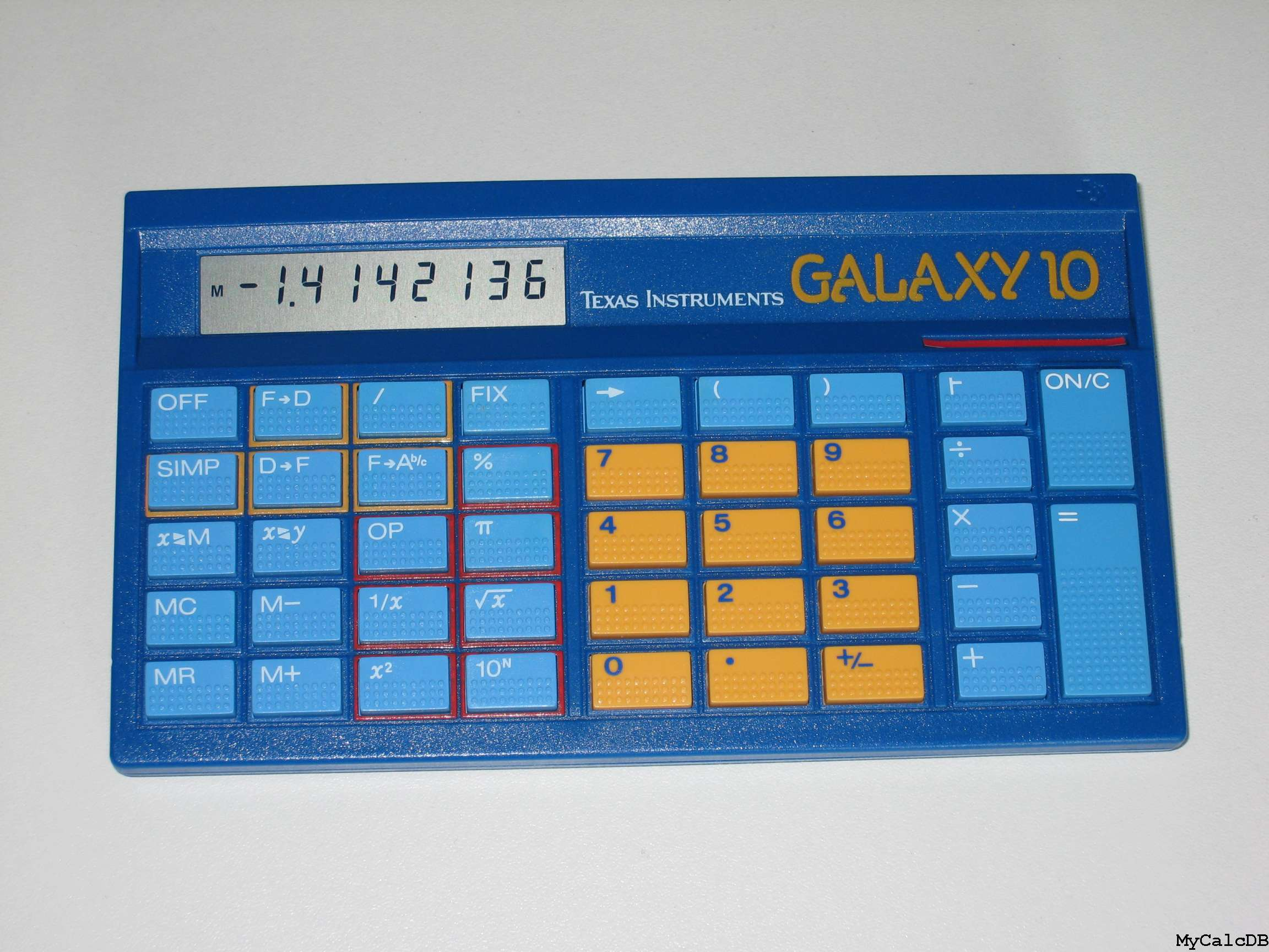 Texas Instruments GALAXY 10