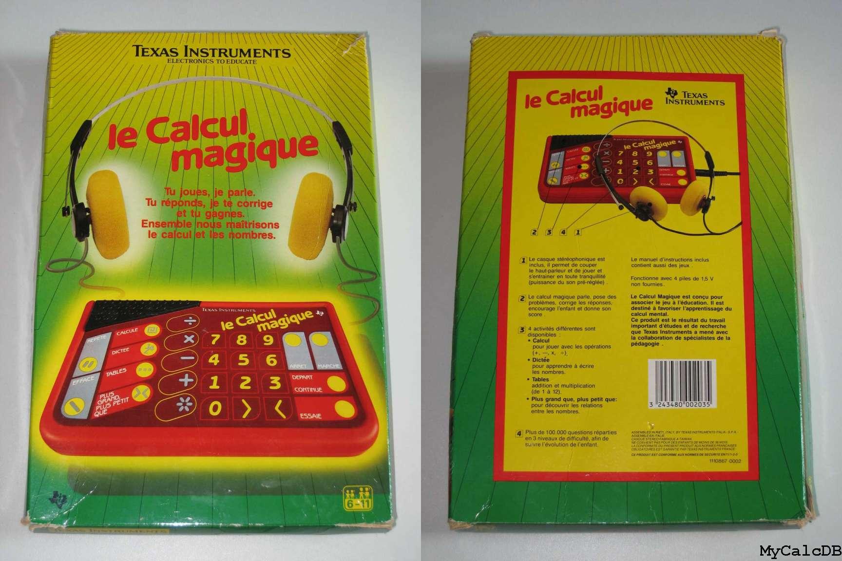 texas instruments le calcul magique