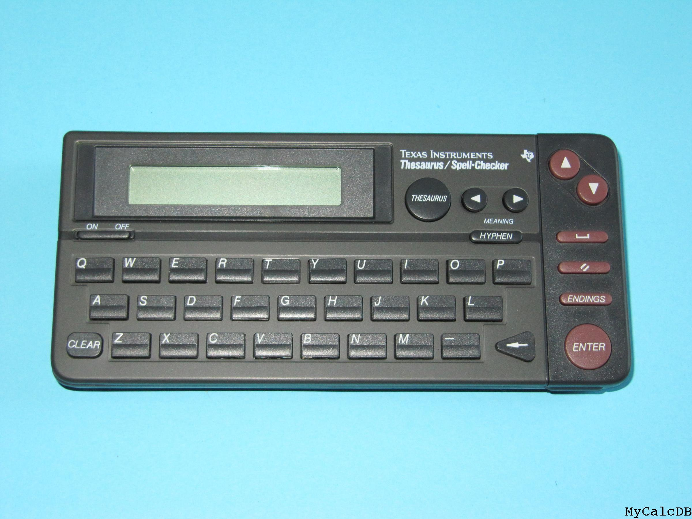 Texas Instruments Thesaurus / Spell-Checker