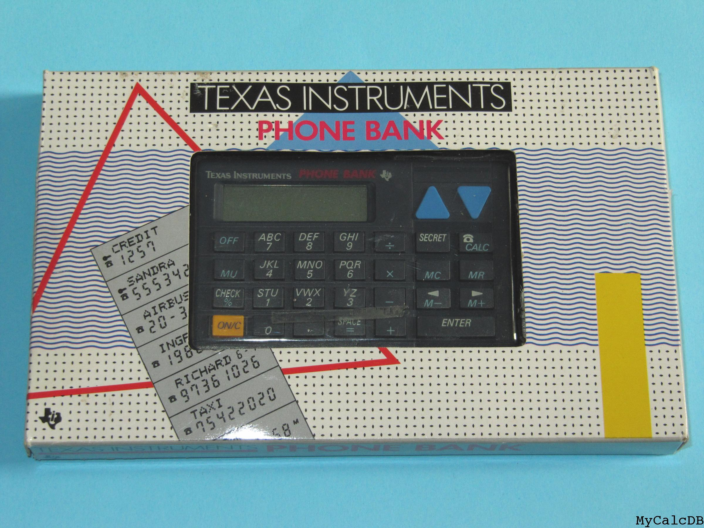 Texas Instruments PHONE BANK
