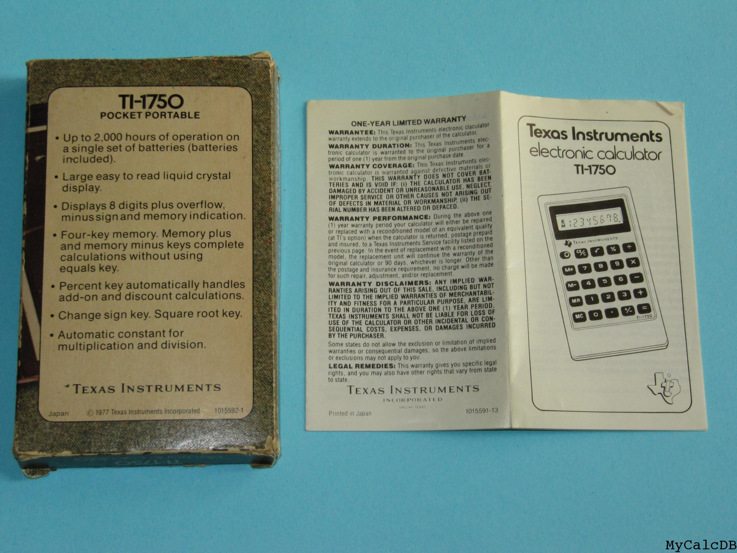Texas Instruments TI-1750